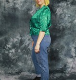 Beautiful 80s cropped top in green