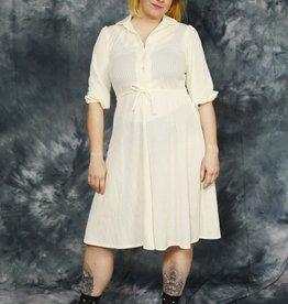 White 80s dress