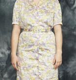 80s floral pencil dress