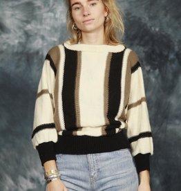Striped 80s jumper
