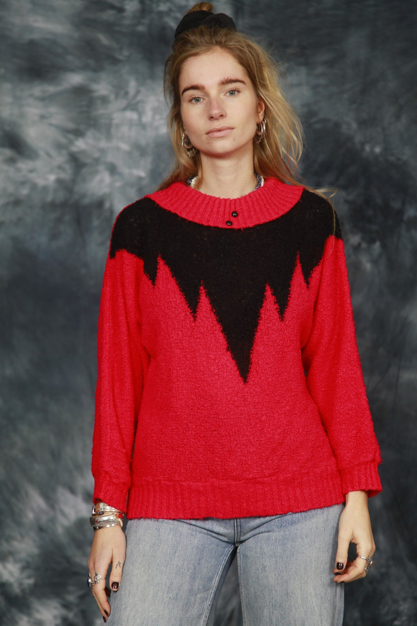Colorful 80s jumper
