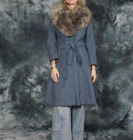 Fabulous 70s coat in blue