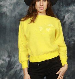 Yellow 80s longe sleeve