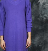 Purple 80s winter dress