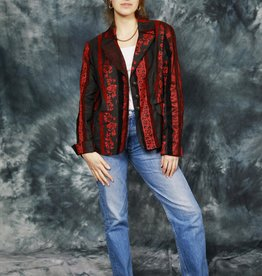Red 90s jacket with all-over print