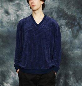 Blue velvet long sleeve