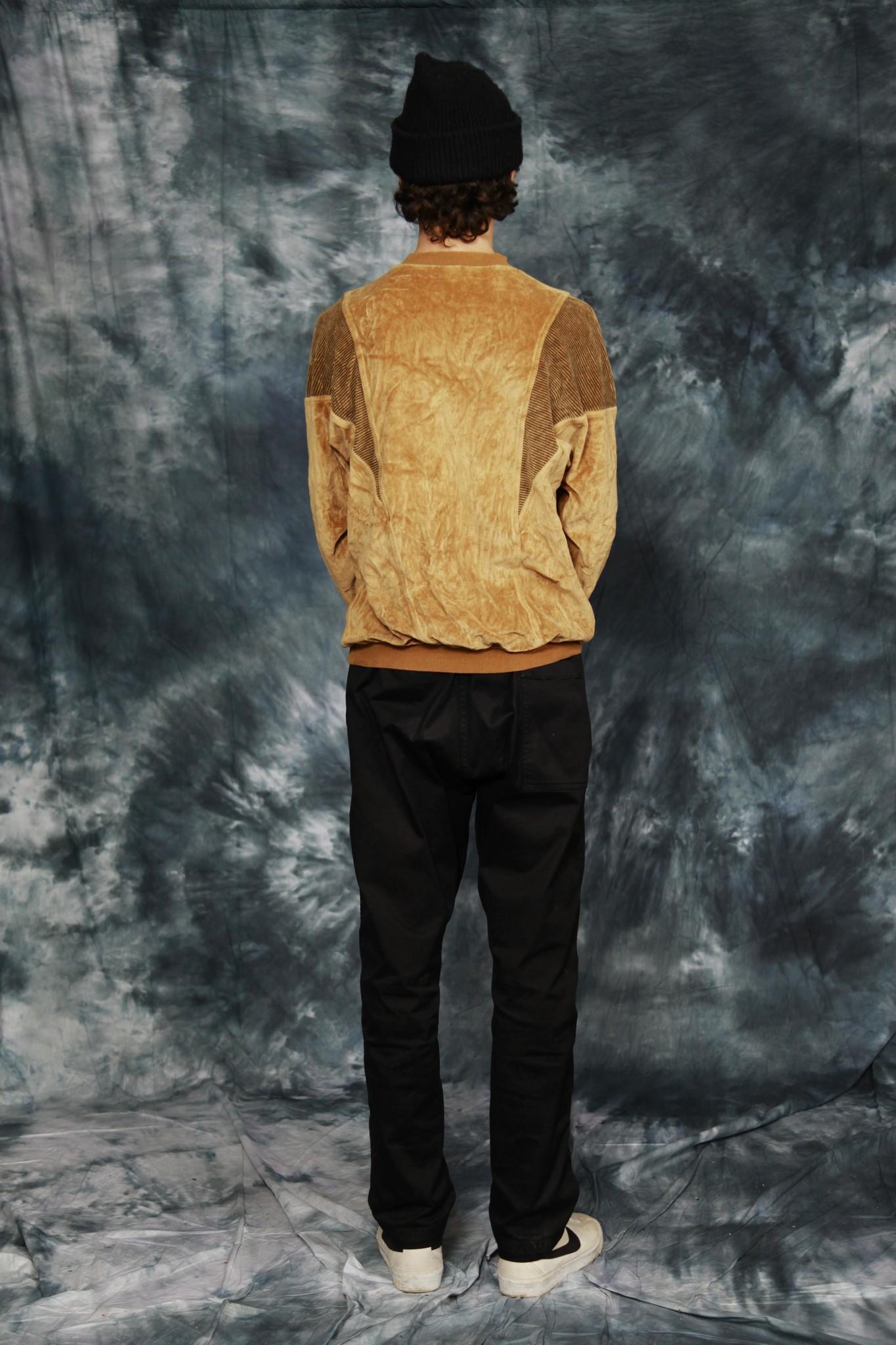 Brown velvet long sleeve