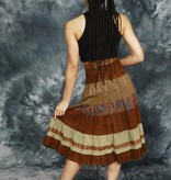 Leather 80s skirt in brown