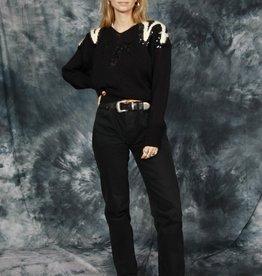 Black 80s jumper with sequins