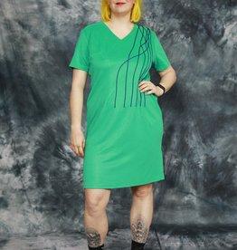 Blue 80s dress