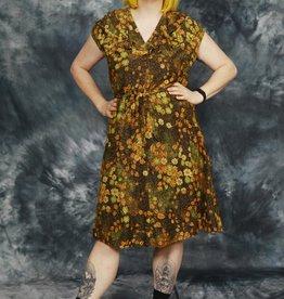 Printed 70s dress