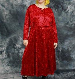 Red 90s velvet dress