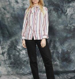 Striped 80s blouse