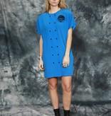 Blue 80s mini dress