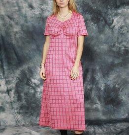 Pink 70s maxi dress