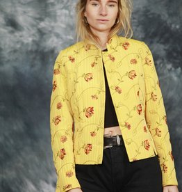 Floral jacket in yellow