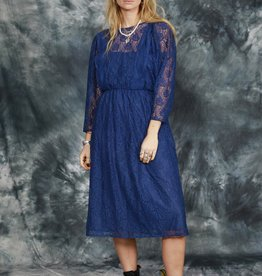 Blue 80s lace dress