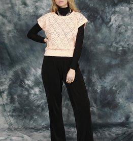 Pink 80s stretch jumper