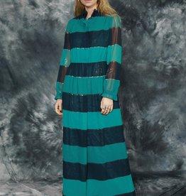 Striped 70s maxi dress