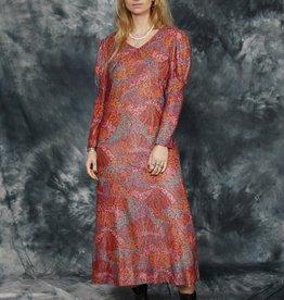 Printed 70s maxi dress