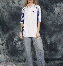White 90s Adidas polo shirt