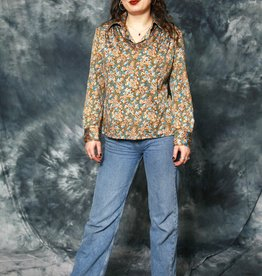 Printed 70s blouse
