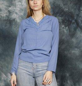 Blue 80s blouse