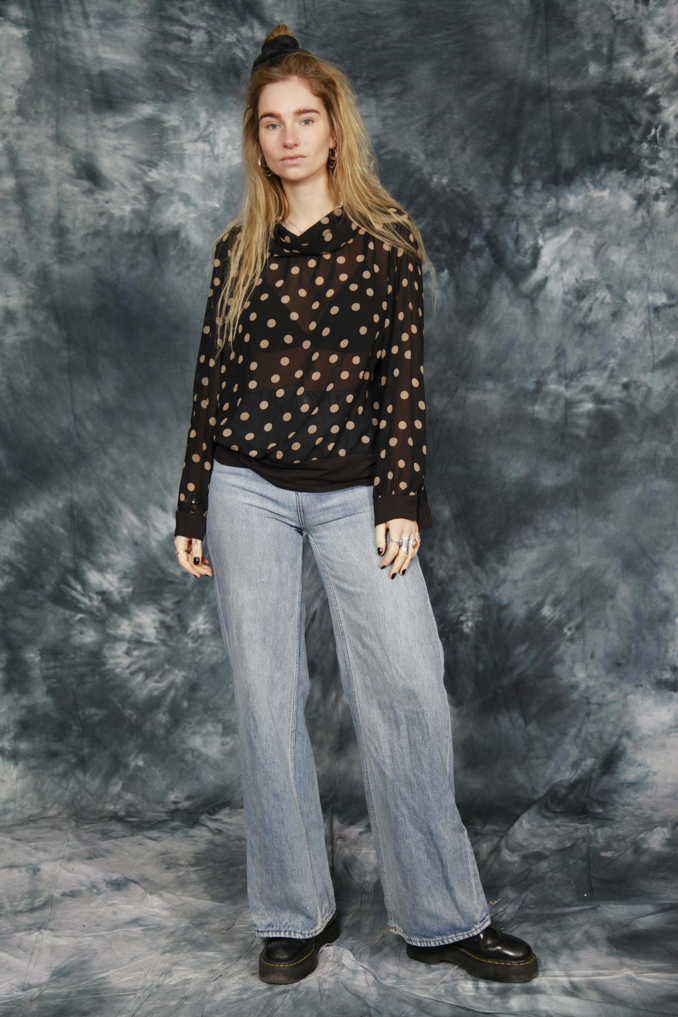 Black 90s blouse