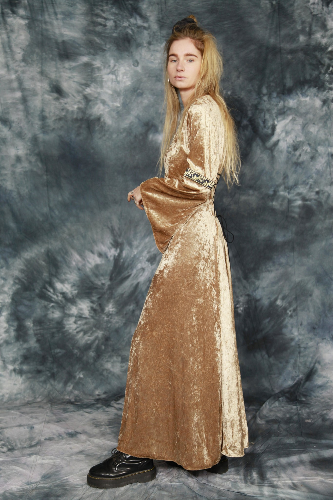 Velvet 90s dress