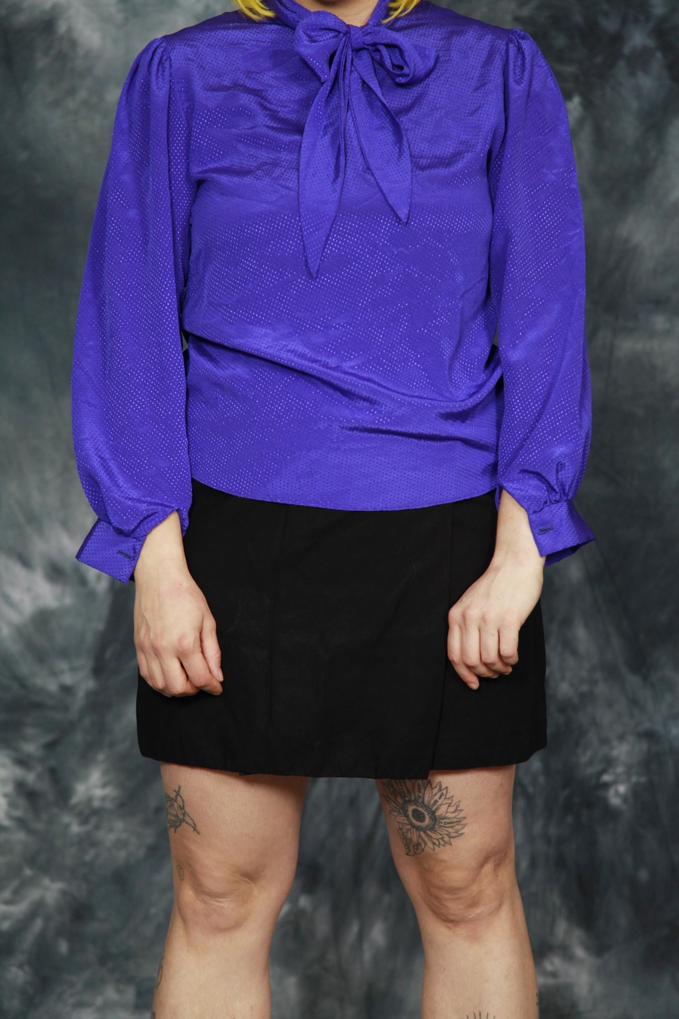 Purple 80s blouse