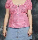 Cute 90s top with all-over print