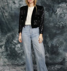 Velvet 80s jacket with sequins
