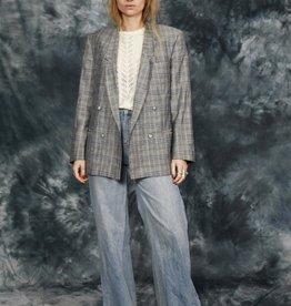 Classic 80s plaid jacket