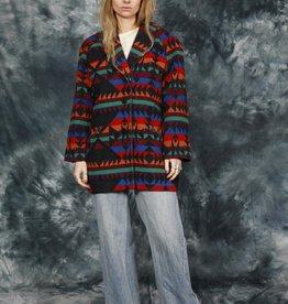 Colorful 80s Aztec coat