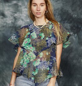 Floral 70s top