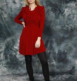 Burgundy 80s mini dress