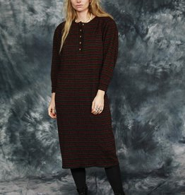Printed 80s winter dress