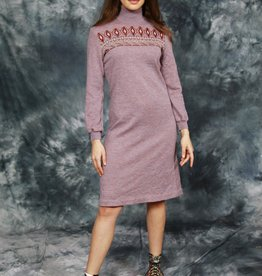 Purple 70s  knitted dress