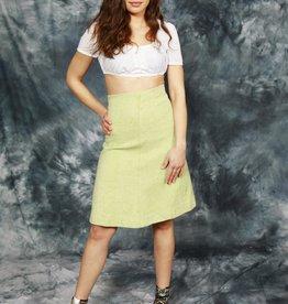 Green 70s winter skirt