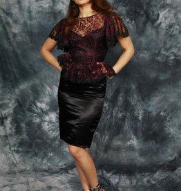 Sassy 80 peplum dress