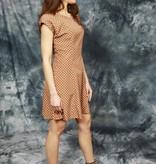 Brown 80s mini dress