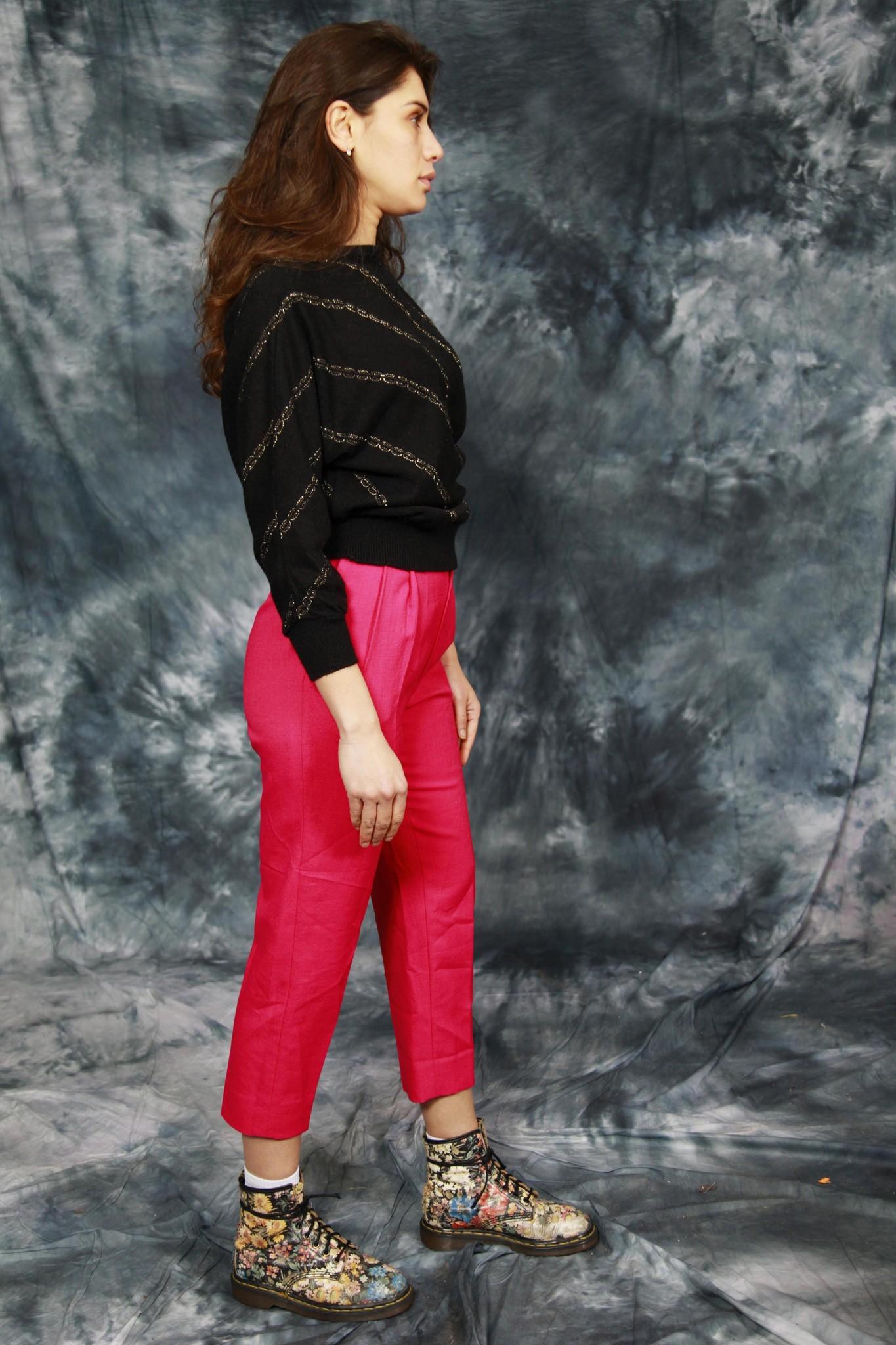 Black 80s jumper