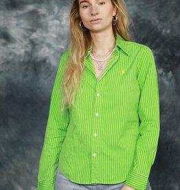 Striped Ralph Lauren shirt in green