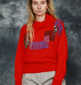 Red 80s jumper