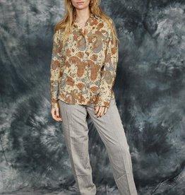 Paisley print 90s  blouse