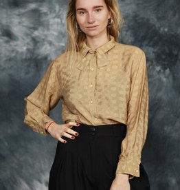 Beige 80s blouse
