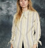 Striped 80s blouse with pussy-bow