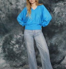Blue 80s stretch jumper