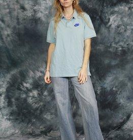 Blue 90s Nike polo shirt