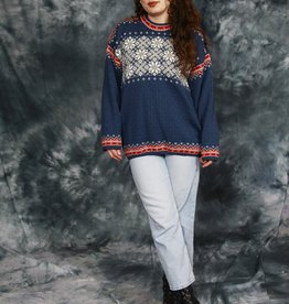 Lined wool jumper